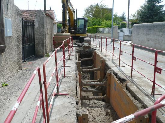 Début des travaux d'assainissement sur la RD115 à l'automne 2009